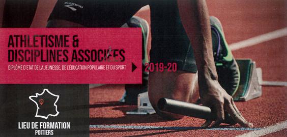 LE CREPS DE POITIERS PROPOSE UNE NOUVELLE FORMATION DEJEPS: athlétisme et disciplinesassociées