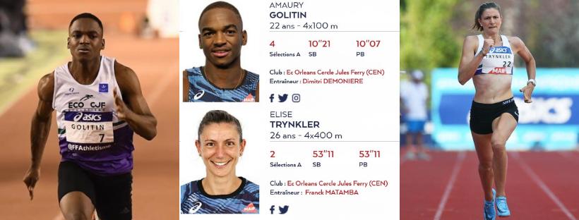 Amaury Golitin rejoint Elise Trynkler en sélection pour les championnats du monde d'athlétisme àDoha