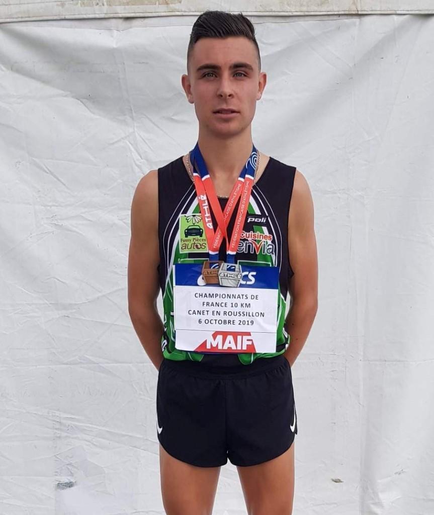 Bastien Augusto démarre très fort ! Résultats des championnats de France des10km