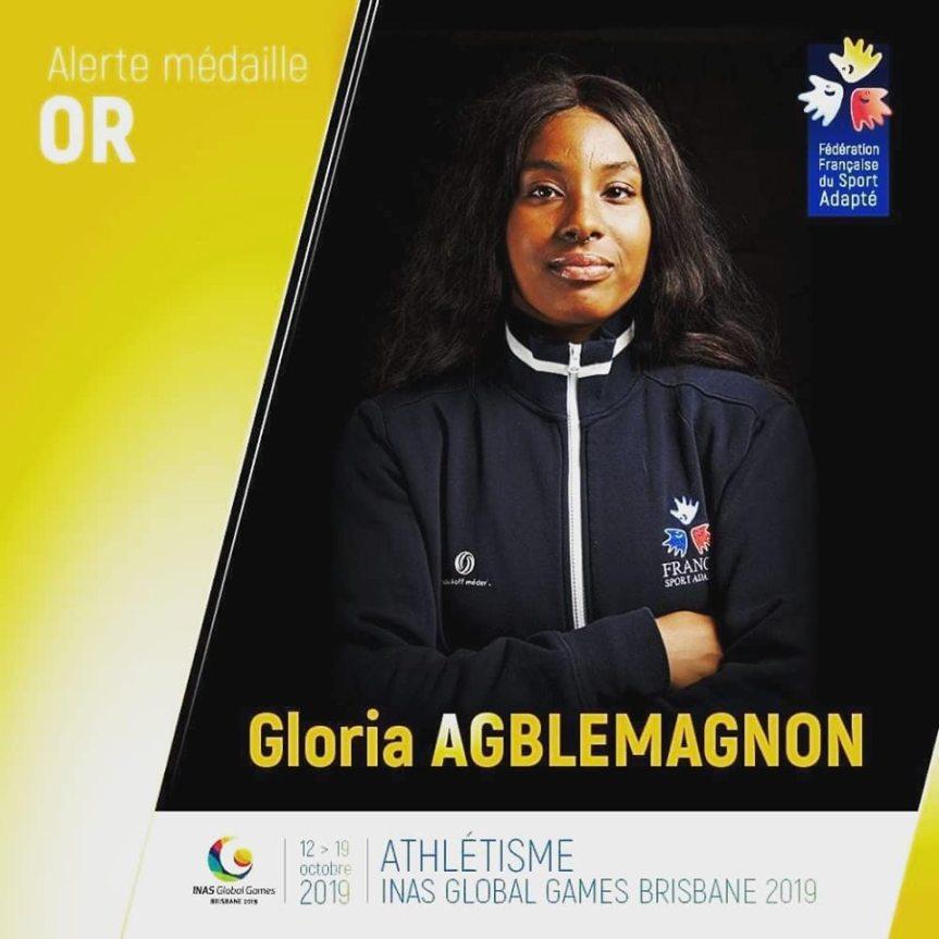 L'or pour Gloria aux championnats du monde à Brisbane(Australie).