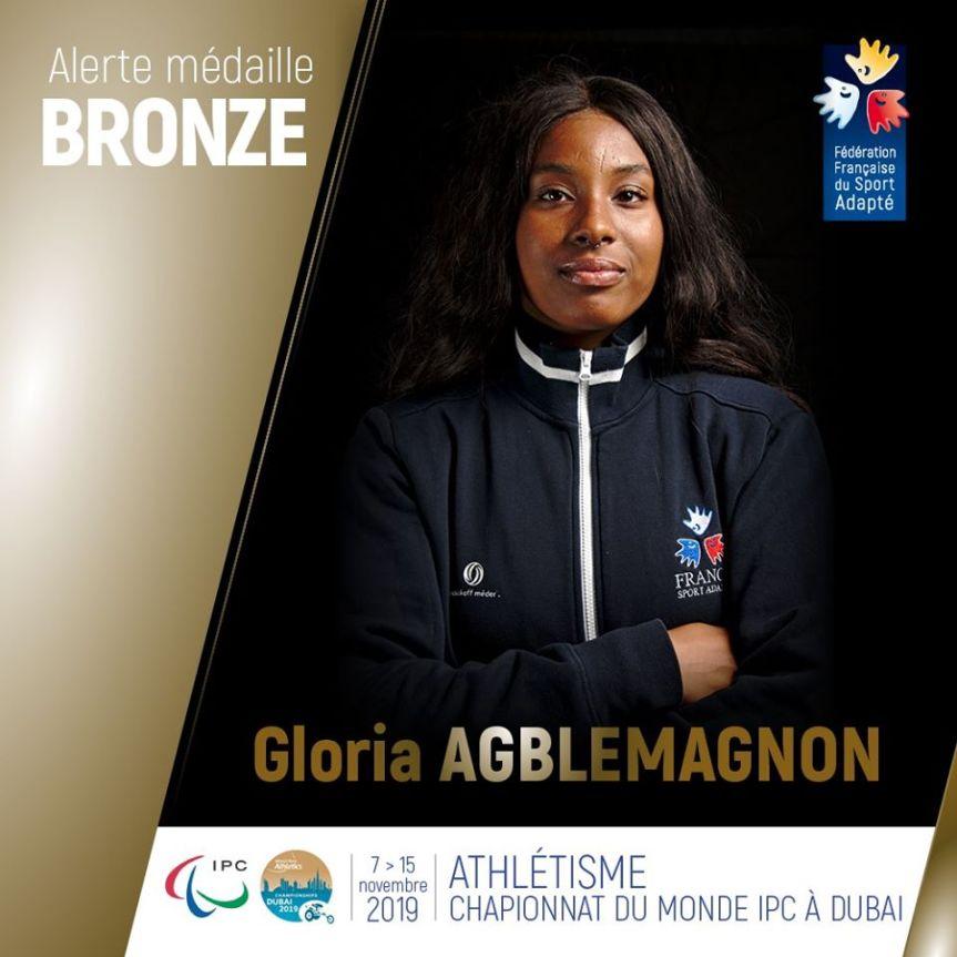 Gloria Agblemagnon prend le bronze à Dubaï!